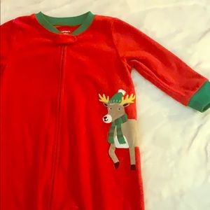 Carters 18 month Christmas footed zipper pajamas